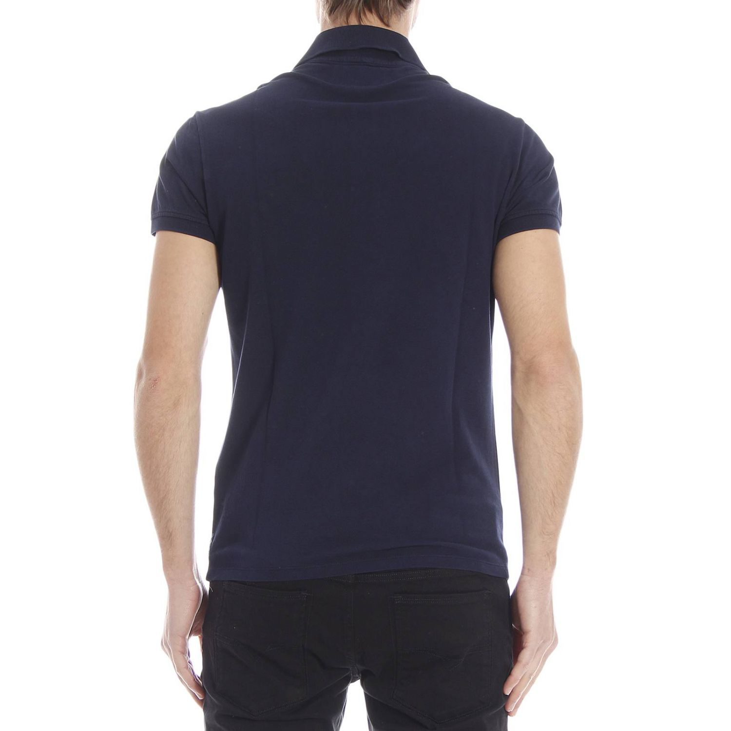 armani t shirt in blue for lyst