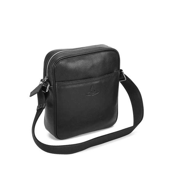 Vivienne Westwood Men s Leather Small Cross Body Bag in Black for ... cc67115c61ed6