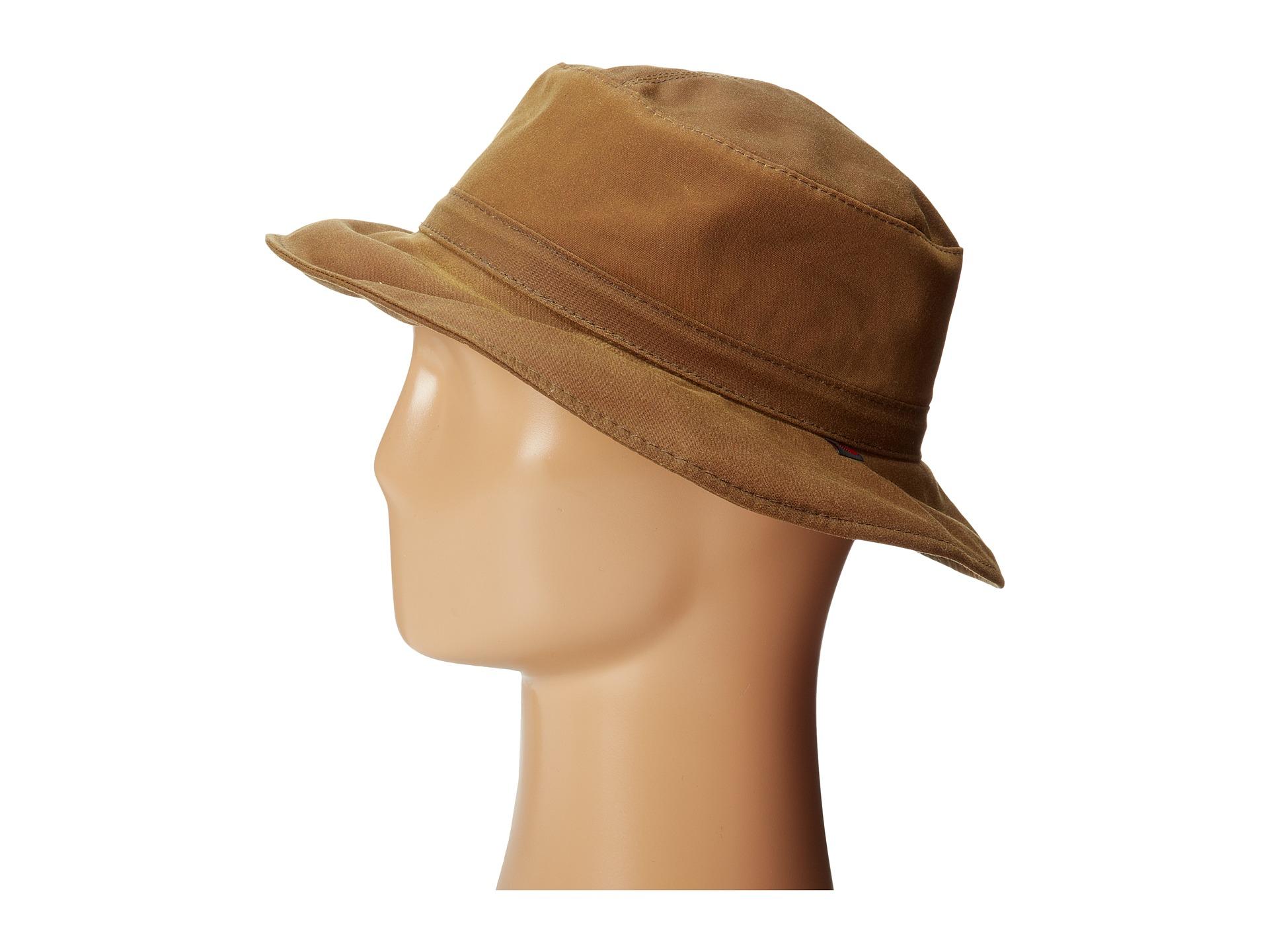 Lyst Woolrich Waxed Cotton Bucket Hat W Micro Fleece