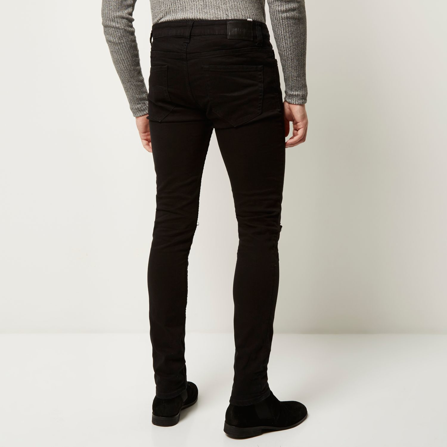 f386b4e686e River Island Black Only & Sons Ripped Knee Skinny Jeans in Black for ...