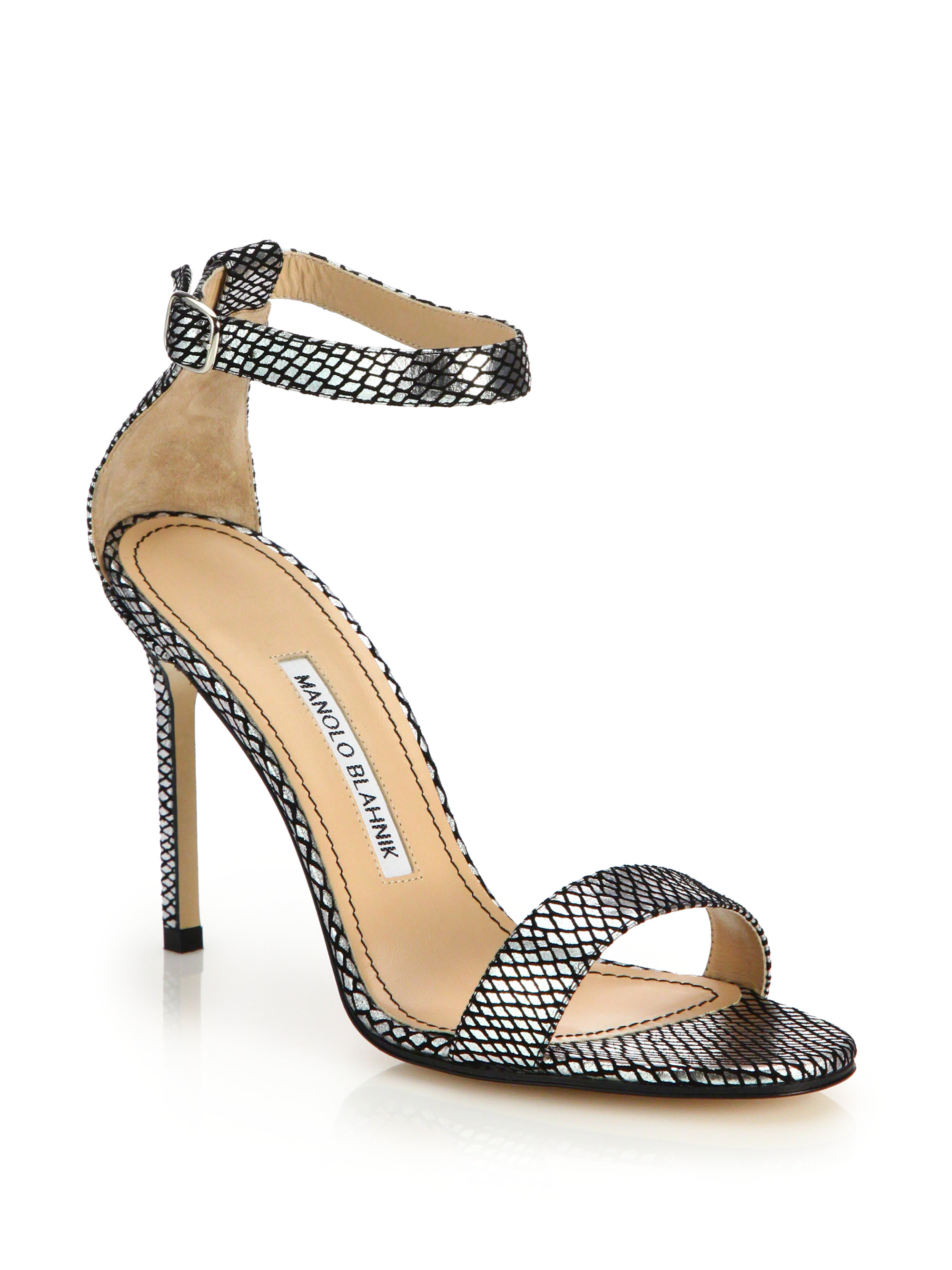 Manolo Blahnik Chaos Printed Sandals sale websites 8dsQJe