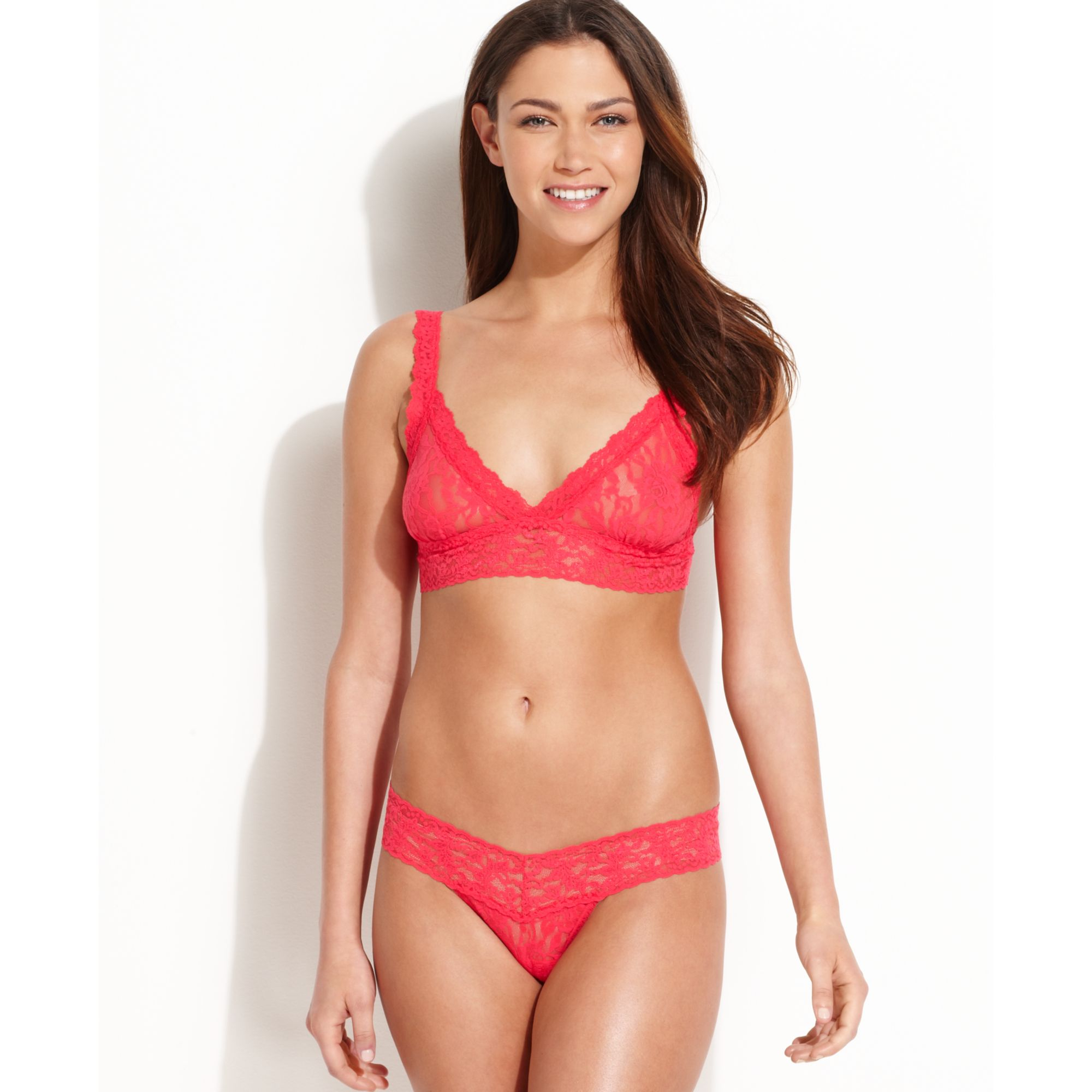 8911c1b72453c Lyst - Hanky Panky Signature Lace Bralette 113 in Red