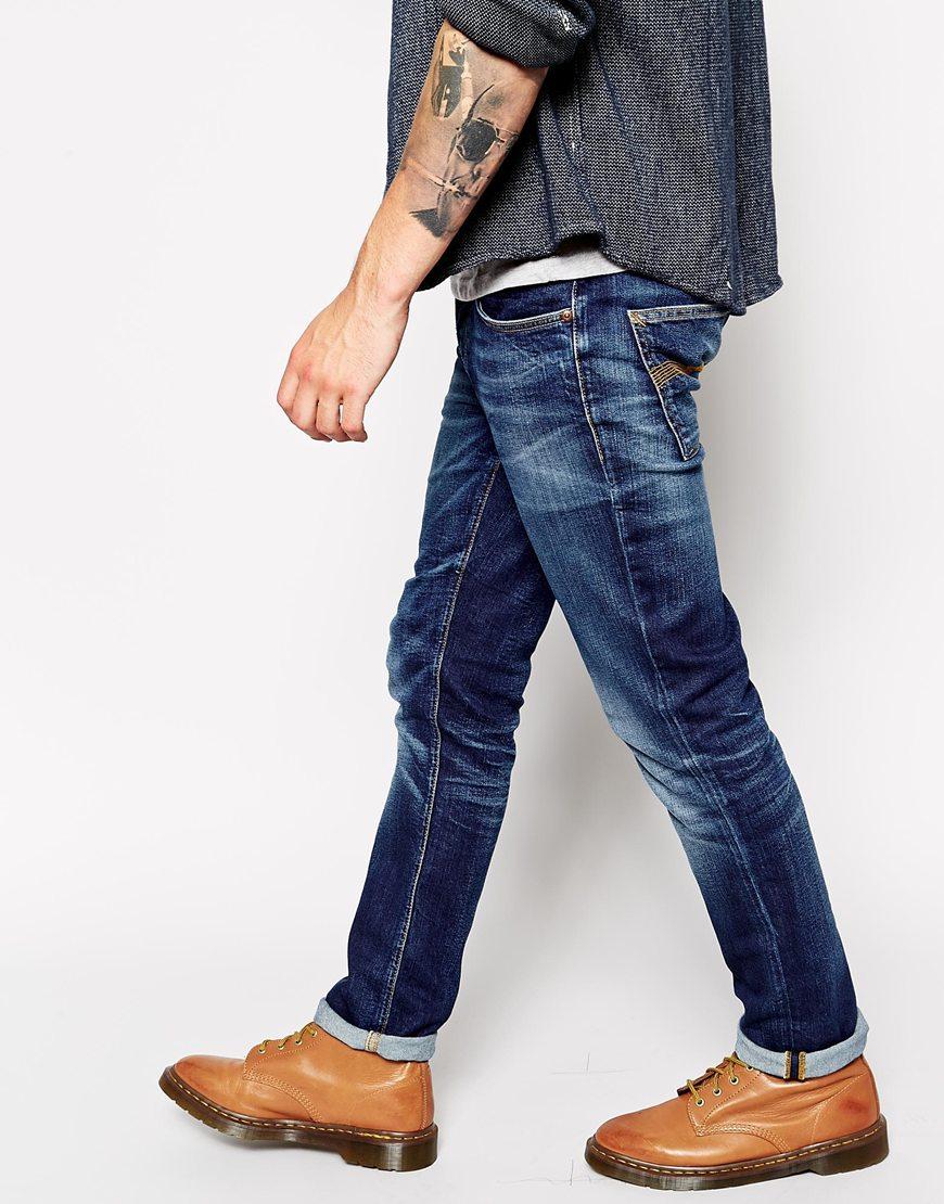 lyst nudie jeans grim tim slim fit stretch cold crisp in