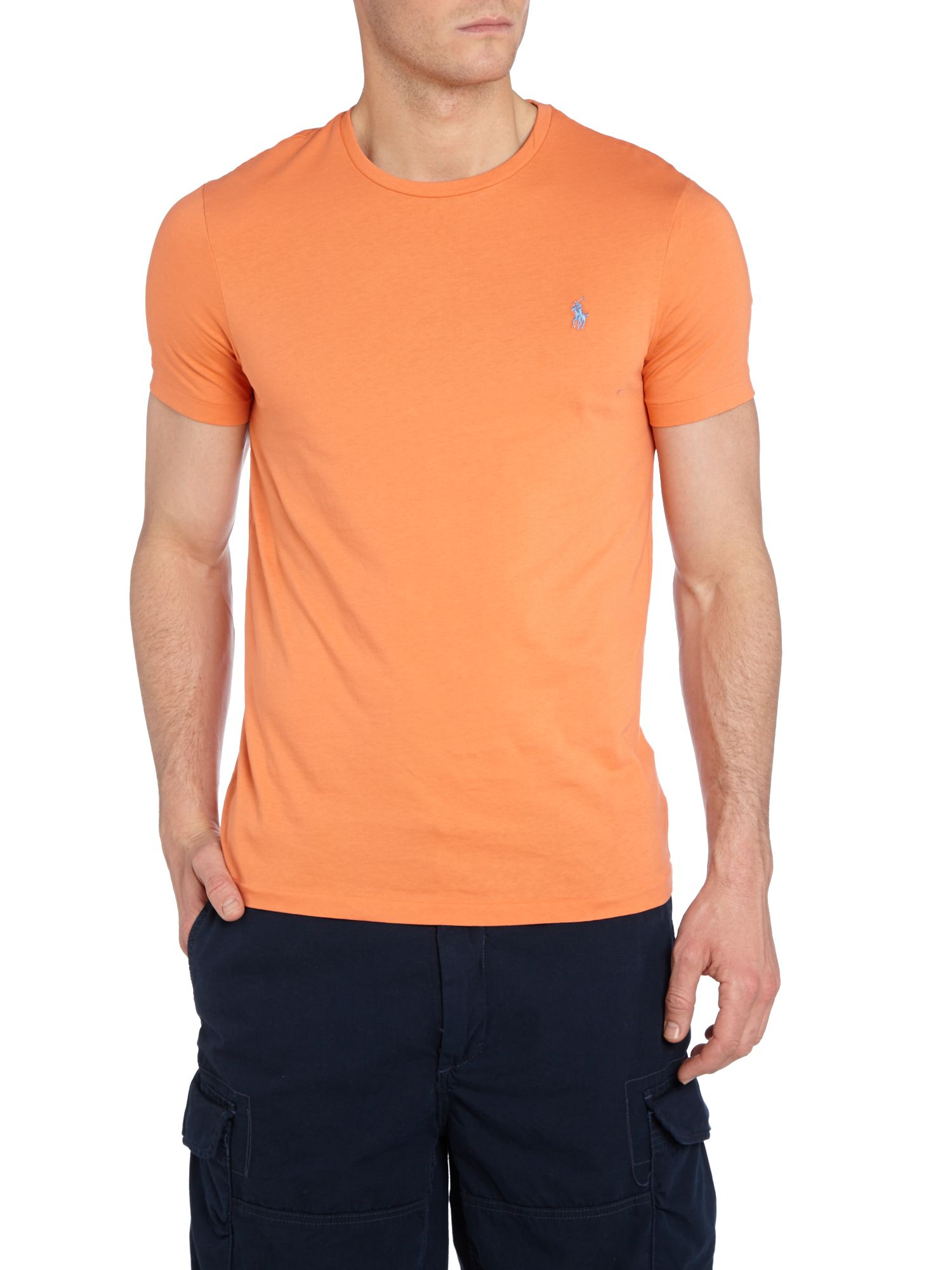 Polo ralph lauren classic custom fit tshirt in orange for for Custom fit t shirts