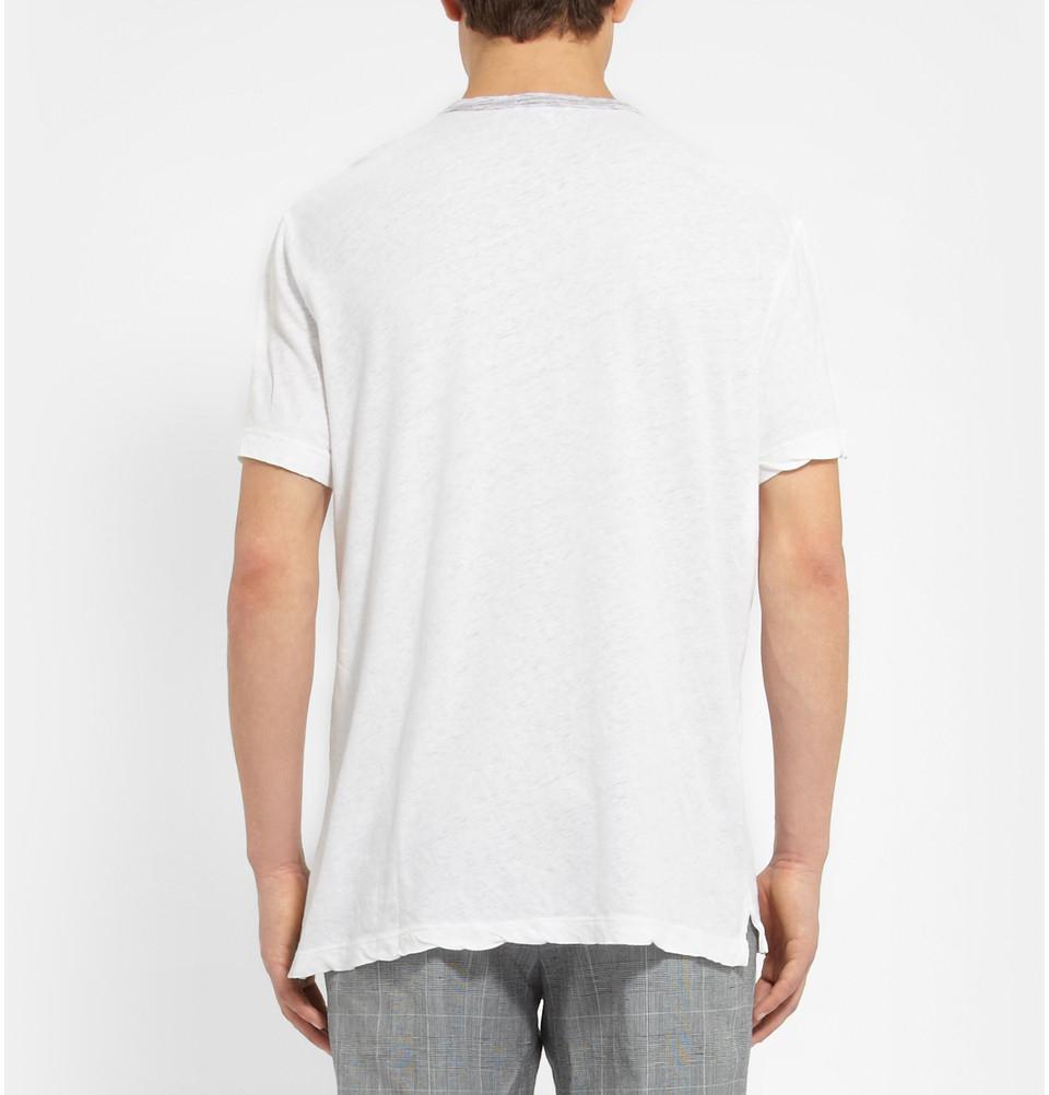 James Perse Slub Cotton Henley T Shirt In White For Men Lyst