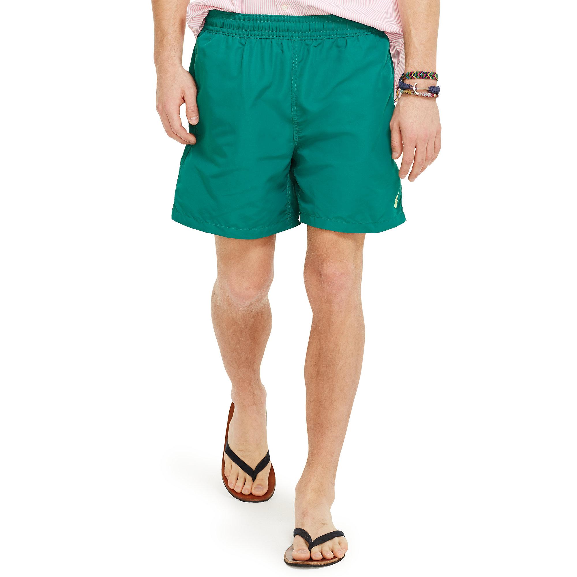 1da199d7ba ... switzerland lyst polo ralph lauren 6 solid hawaiian swim trunk in green  for men 55d43 62789