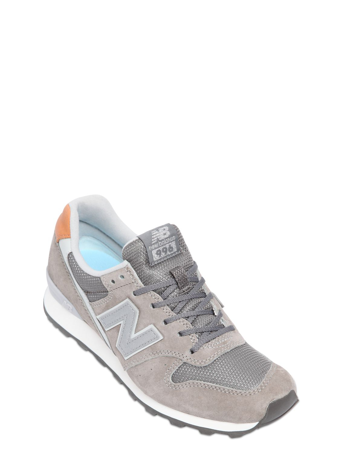 womens new balance light grey 996 trainers