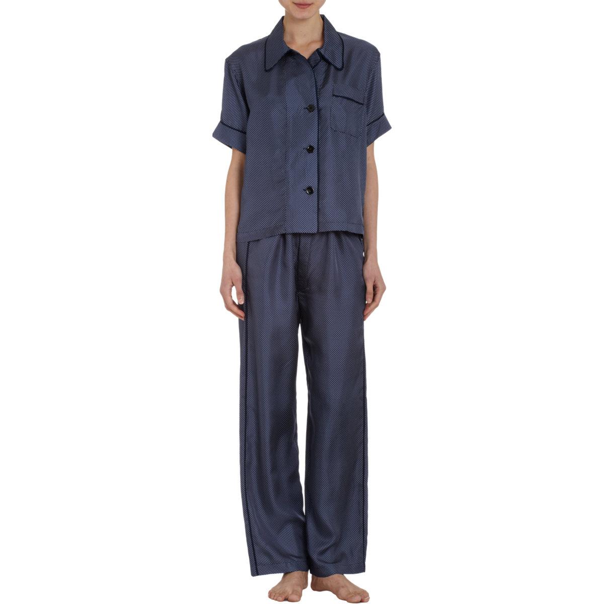 a1ecd245d25f6 Lyst - Araks Shelby Polka Dot Pajama Top in Blue