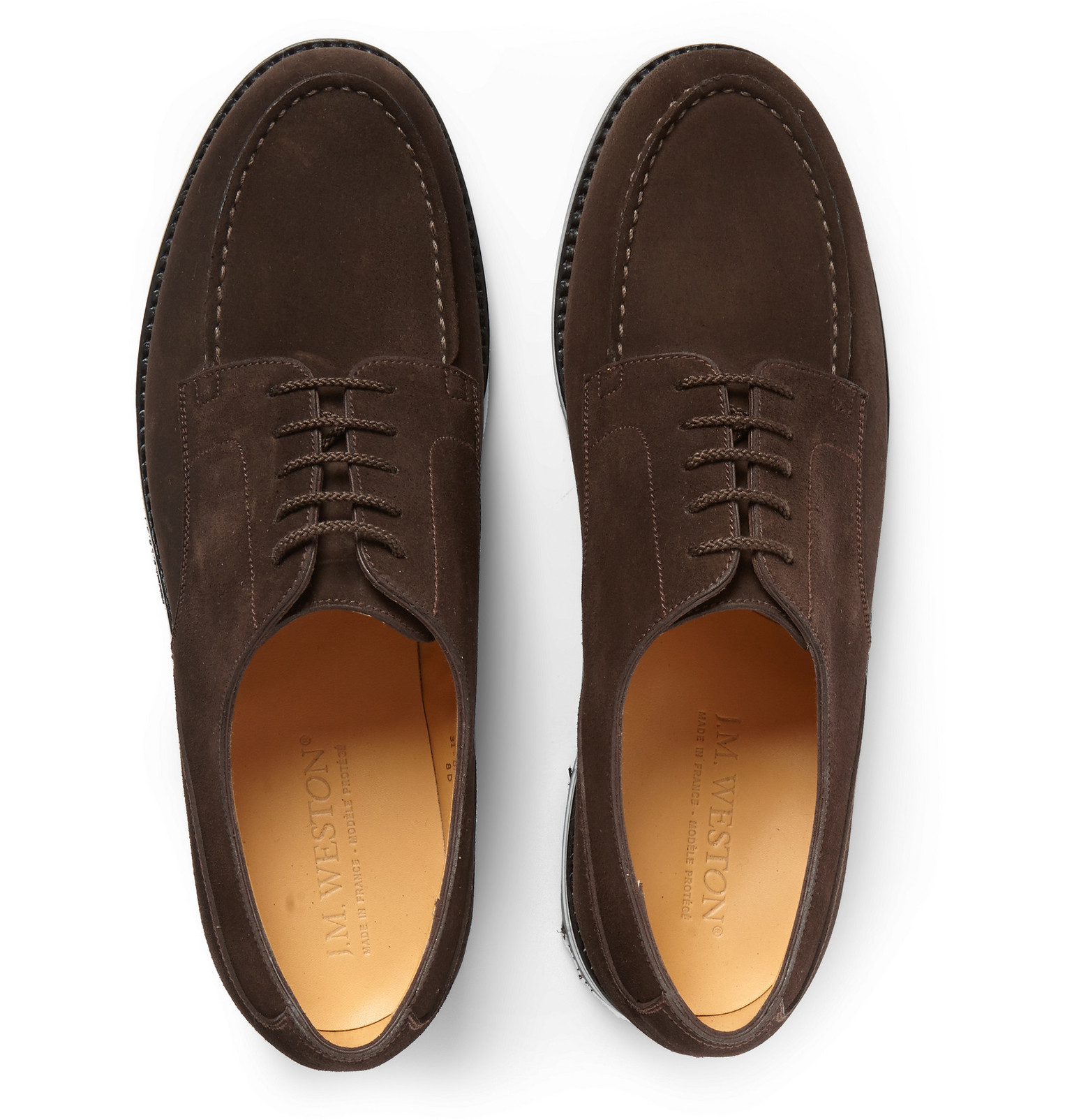 87b85a4a0a8a57 J.M. Weston Goodyear®-welted Suede Derby Shoes in Brown for Men - Lyst