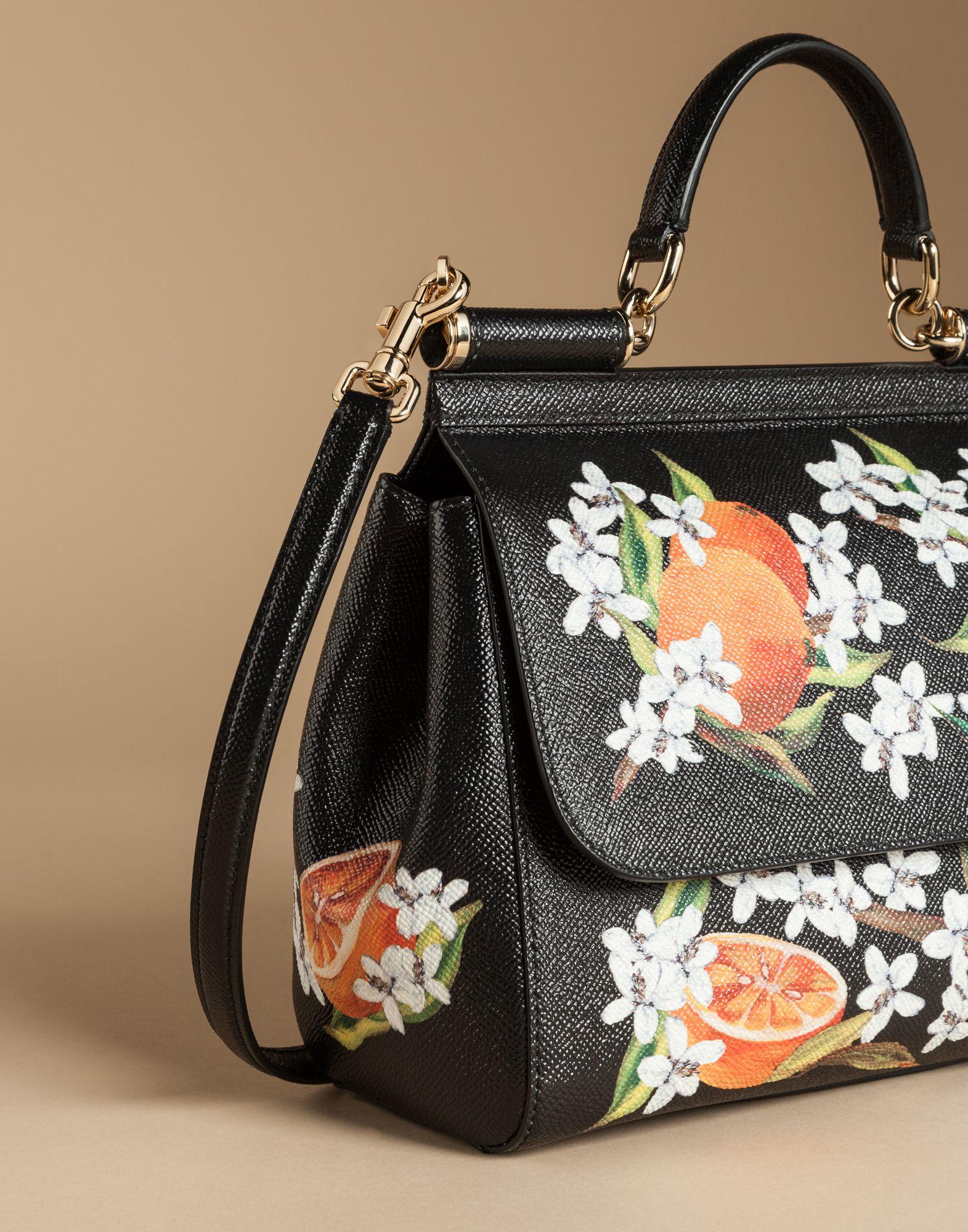 e576e91b4ae0 Lyst - Dolce   Gabbana Medium Sicily Bag In Printed Dauphine Leather ...