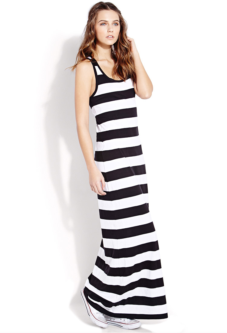 f3c6b9e7 Black And White Striped Maxi Dress Forever 21 – Little Black Dress ...