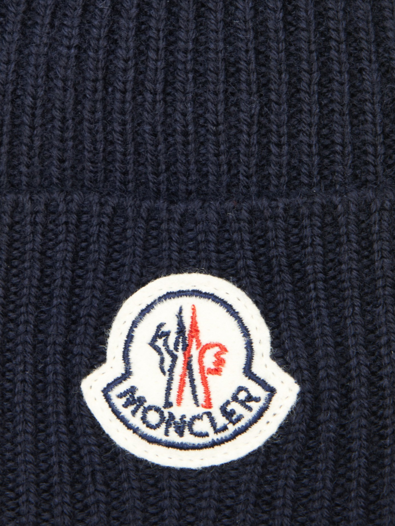 Moncler Ribbed-Knit Wool Beanie Hat in Blue for Men - Lyst a63fa7bd3e1