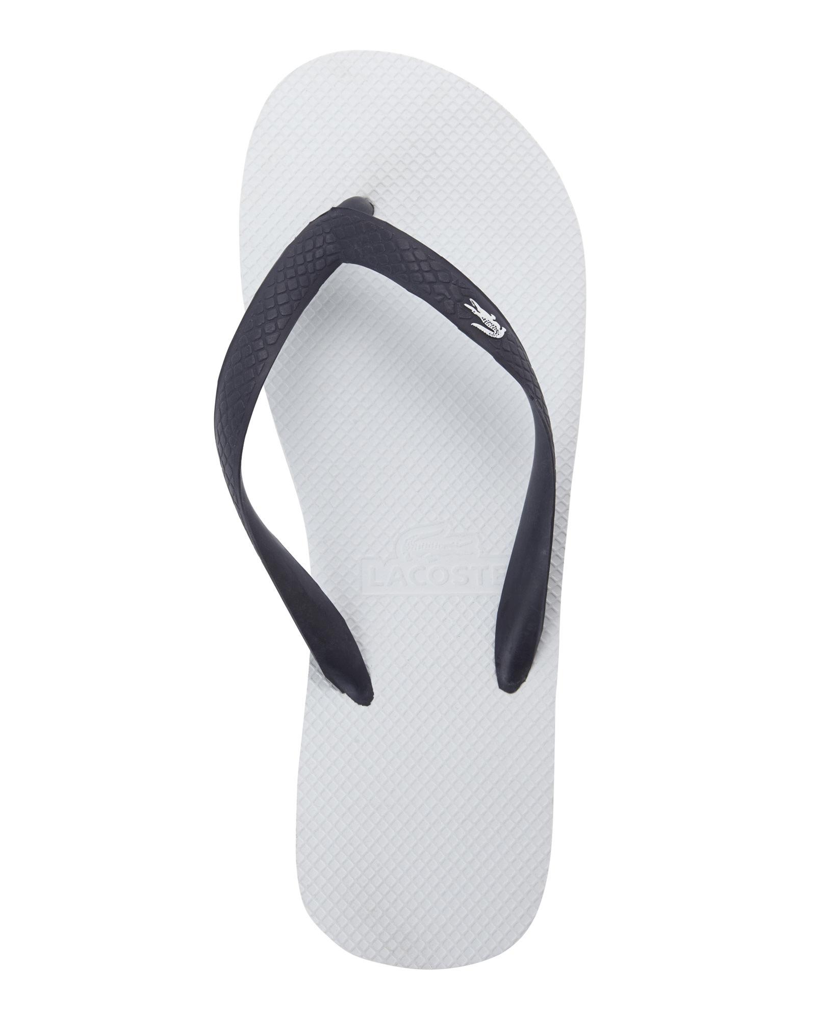 7589904948a11c Lyst - Lacoste Navy Barona Flip Flops in Blue