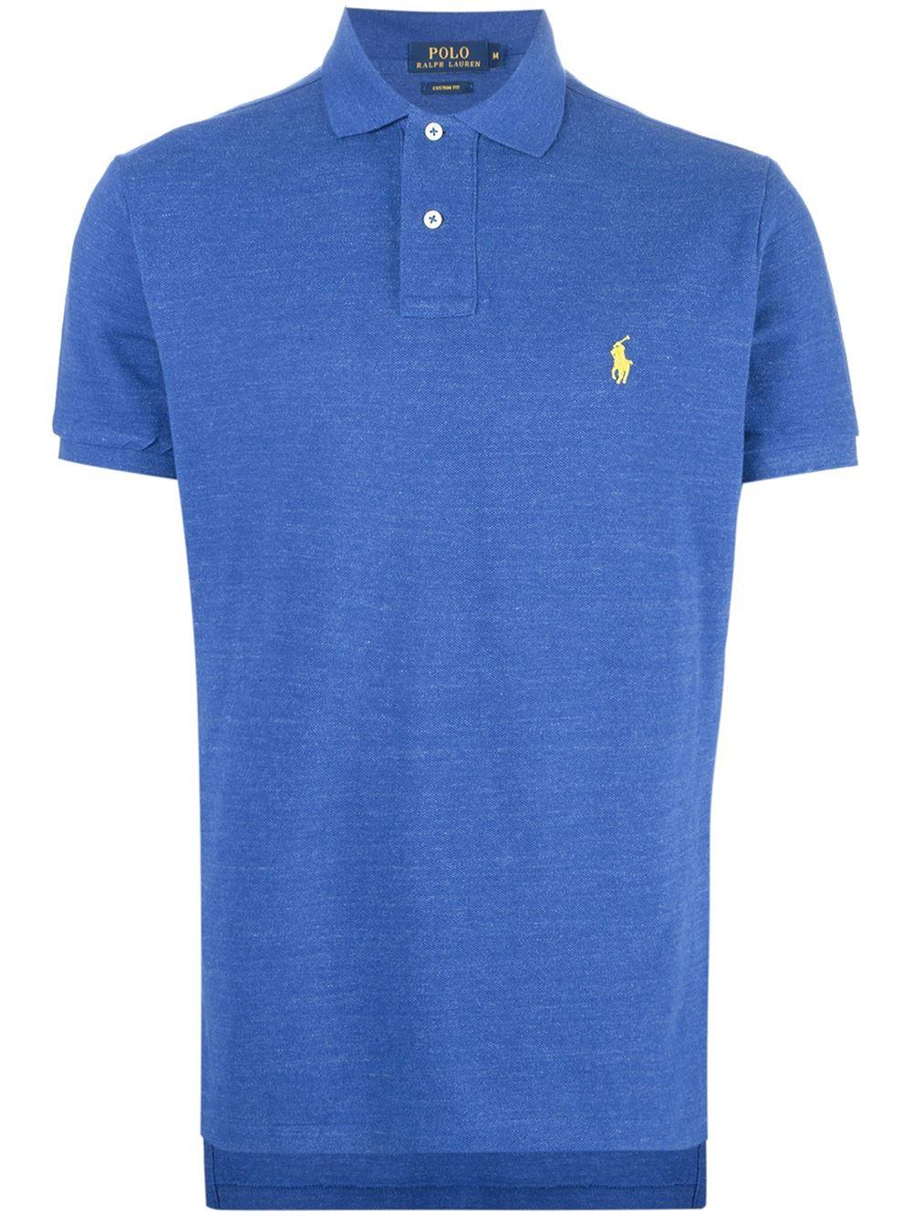 Polo ralph lauren custom fit polo shirt in blue for men lyst for Polo ralph lauren custom fit polo shirt
