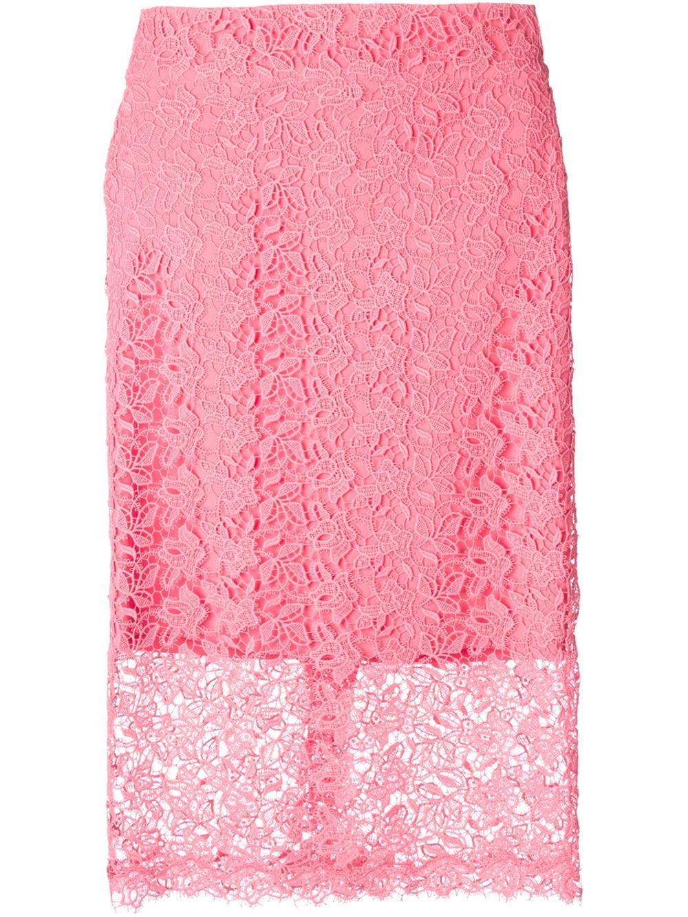 ermanno scervino lace pencil skirt in pink pink purple