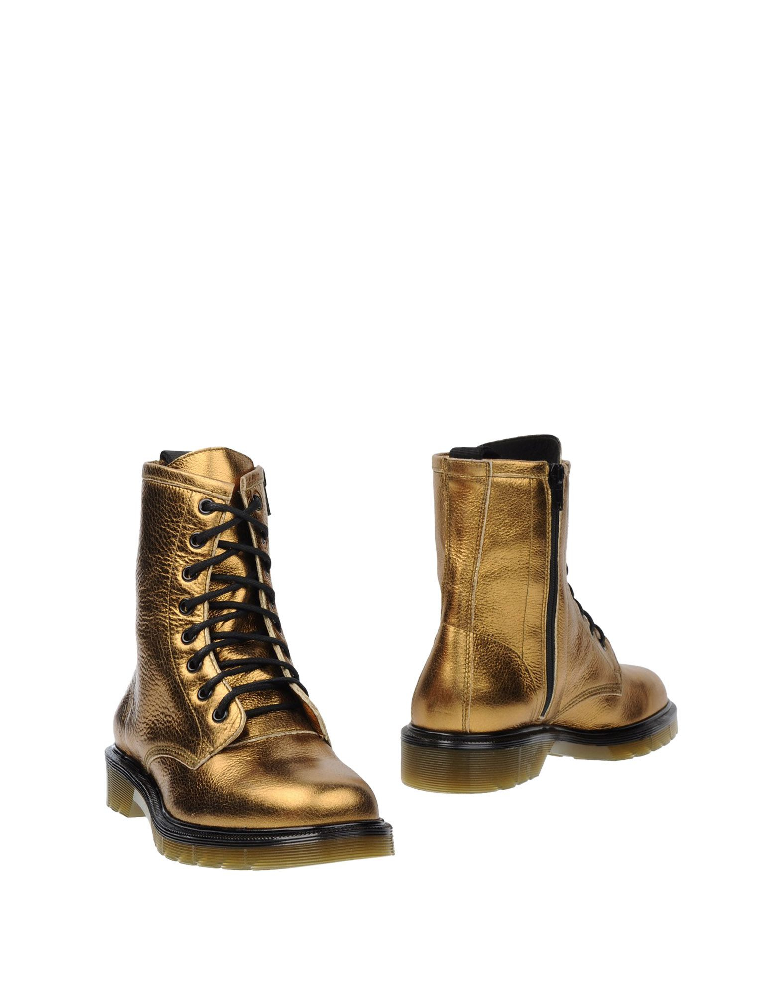 boemos ankle boots in metallic lyst
