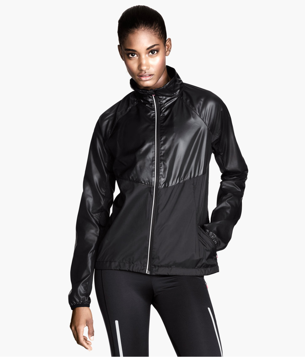 Hu0026m Running Jacket In Black | Lyst