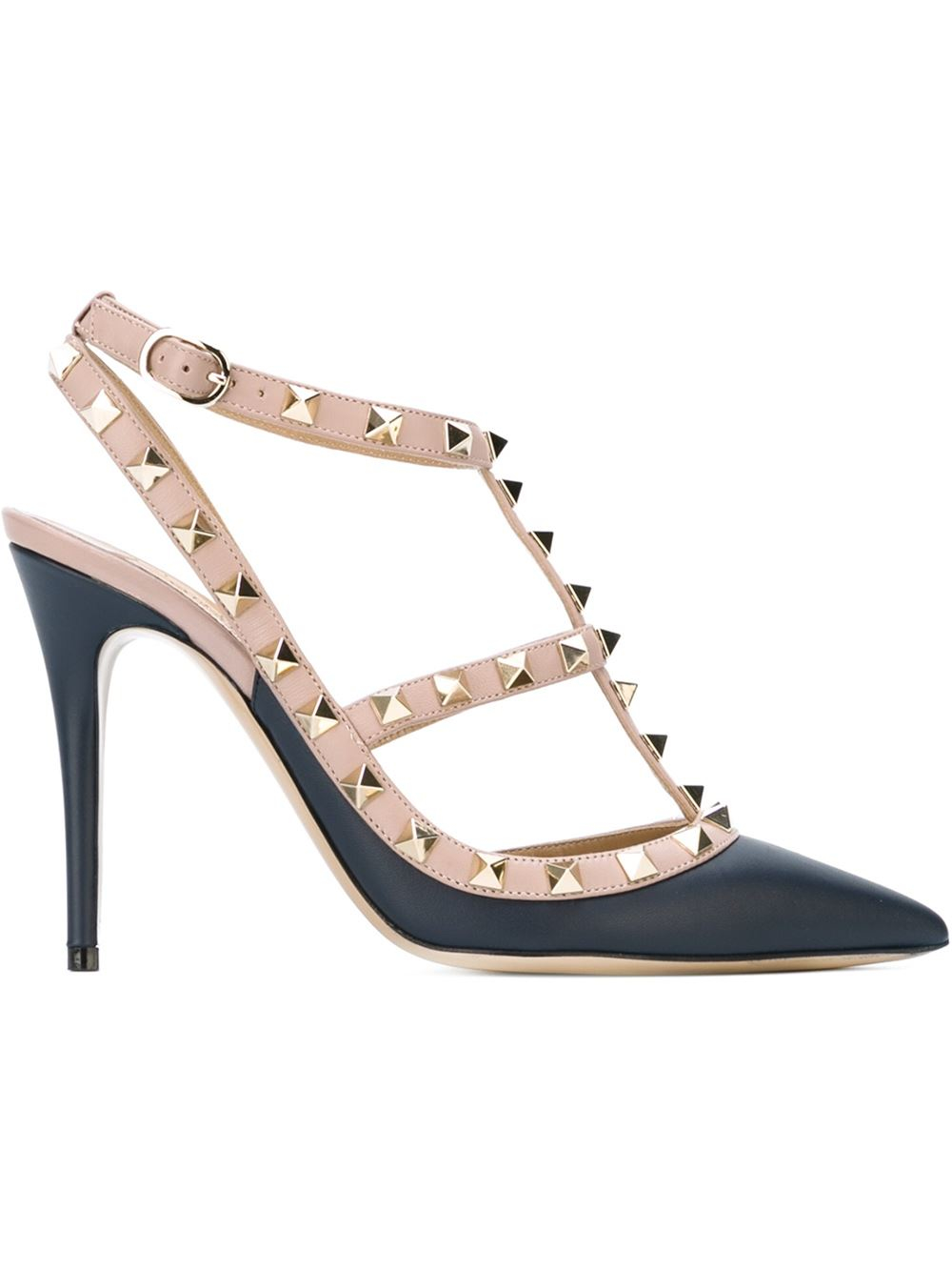valentino 39 rockstud 39 pumps in blue lyst. Black Bedroom Furniture Sets. Home Design Ideas
