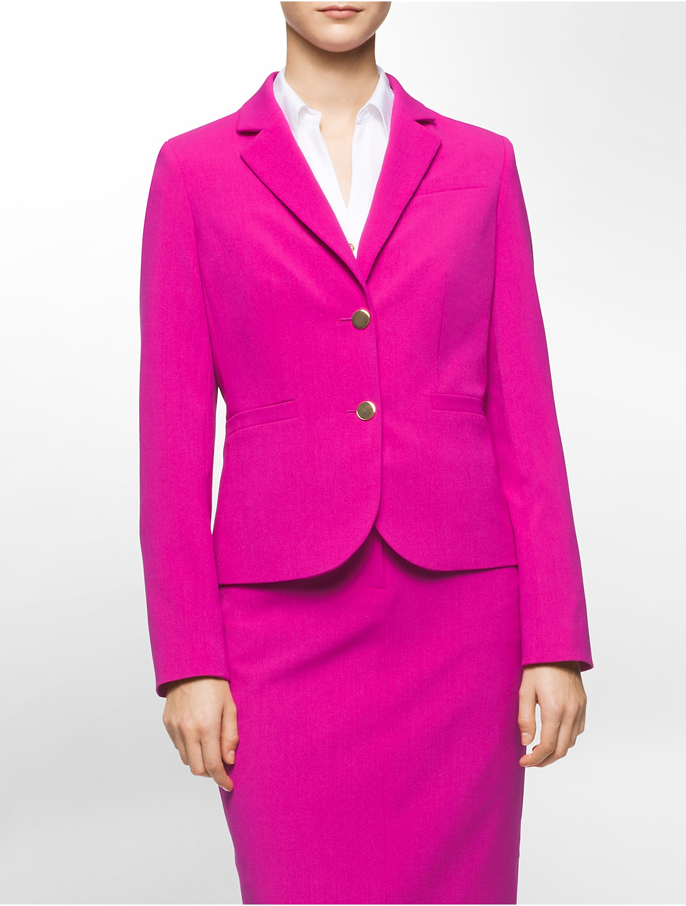 Lyst Calvin Klein White Label One Button Suit Jacket In Pink