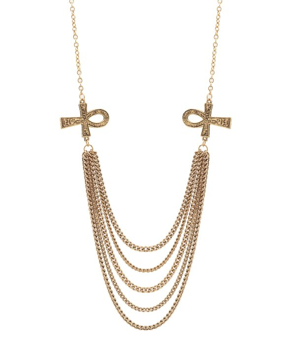 low by erin wasson ankh multi layer necklace in