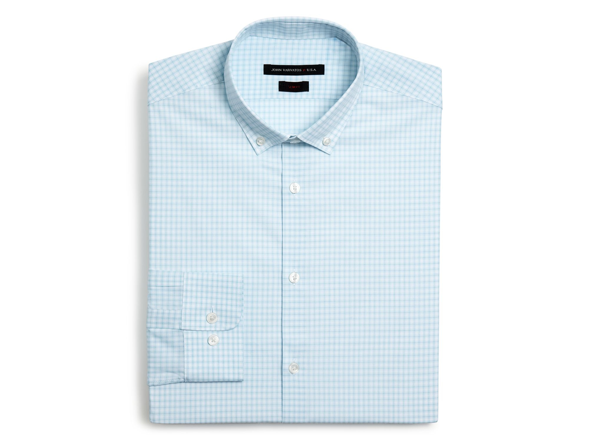 Lyst John Varvatos Star Usa Mint Check Dress Shirt Slim Fit In