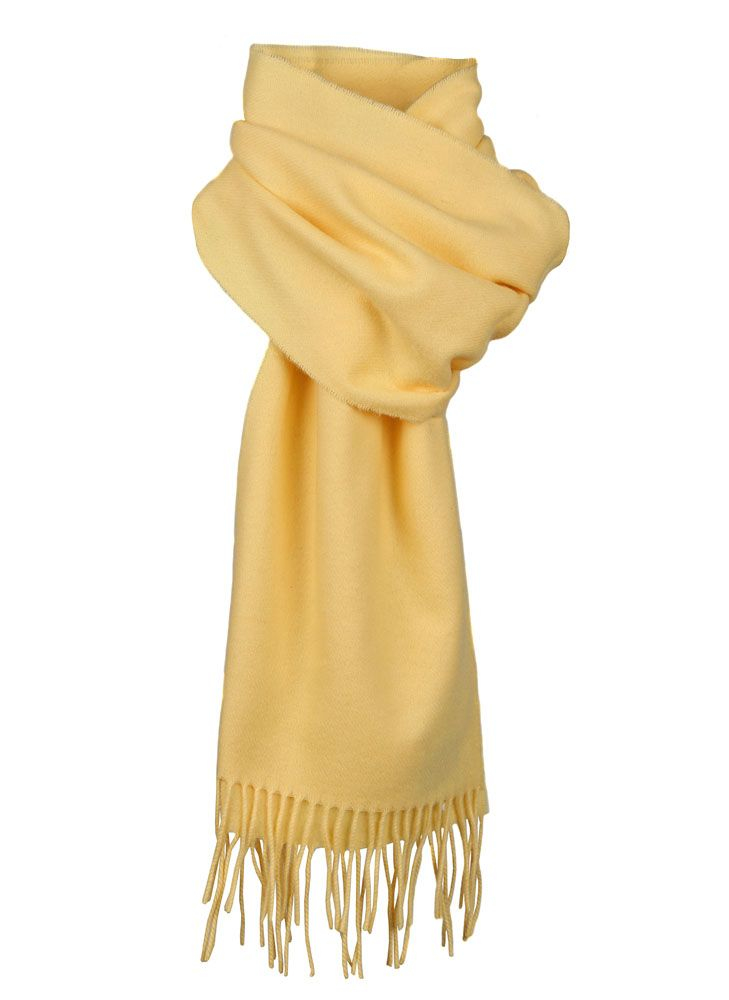 dents plain scarf in yellow for lyst
