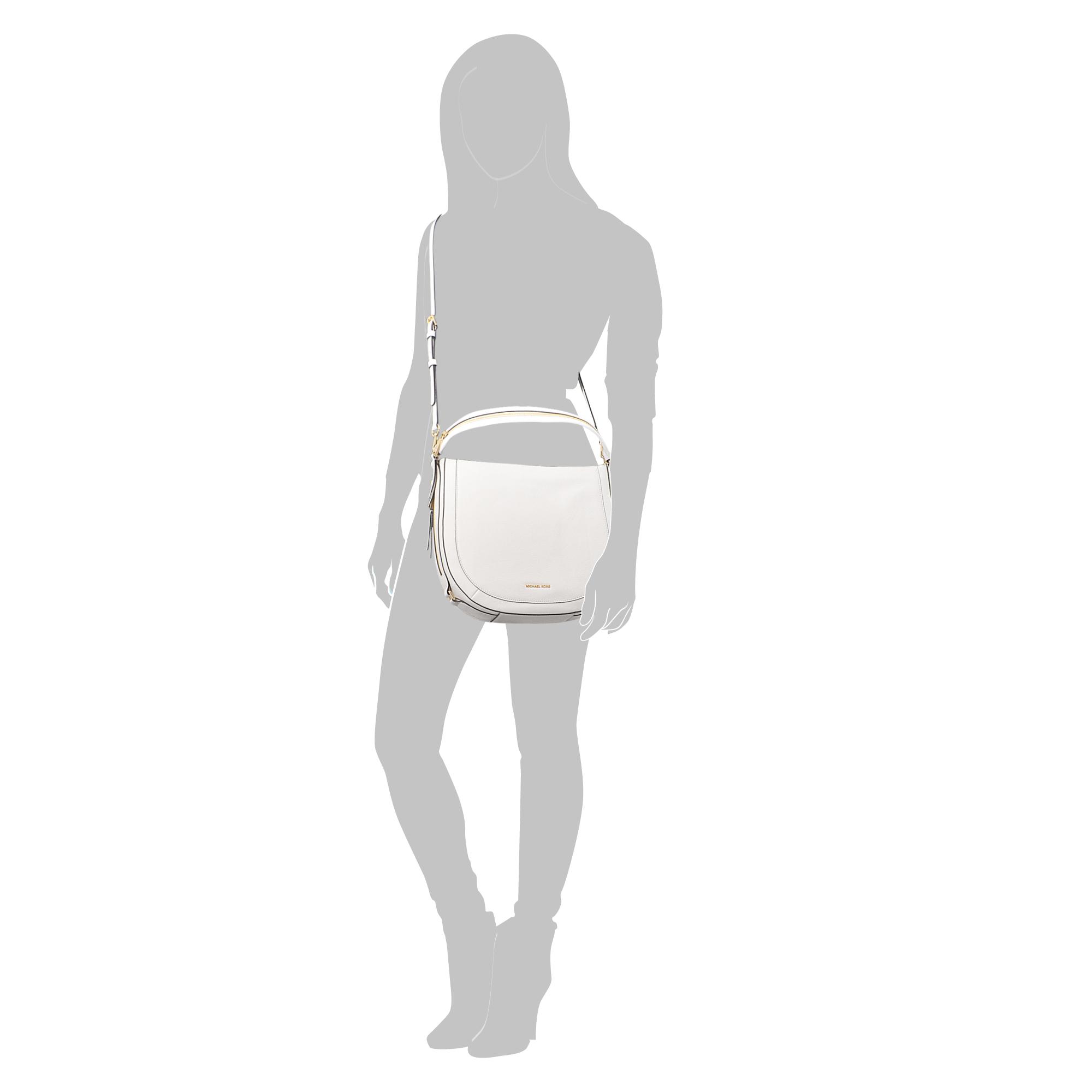 724e0eb875beda MICHAEL Michael Kors Julia Medium Congreenible Shoulder Bag in White ...