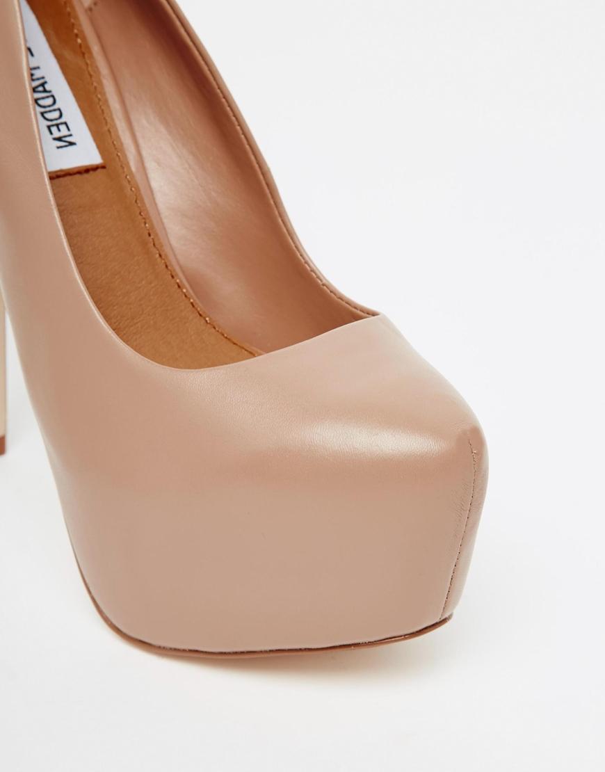 0418143813e Lyst - Steve Madden Dejavu Extreme Platform Leather Heeled Shoes in ...