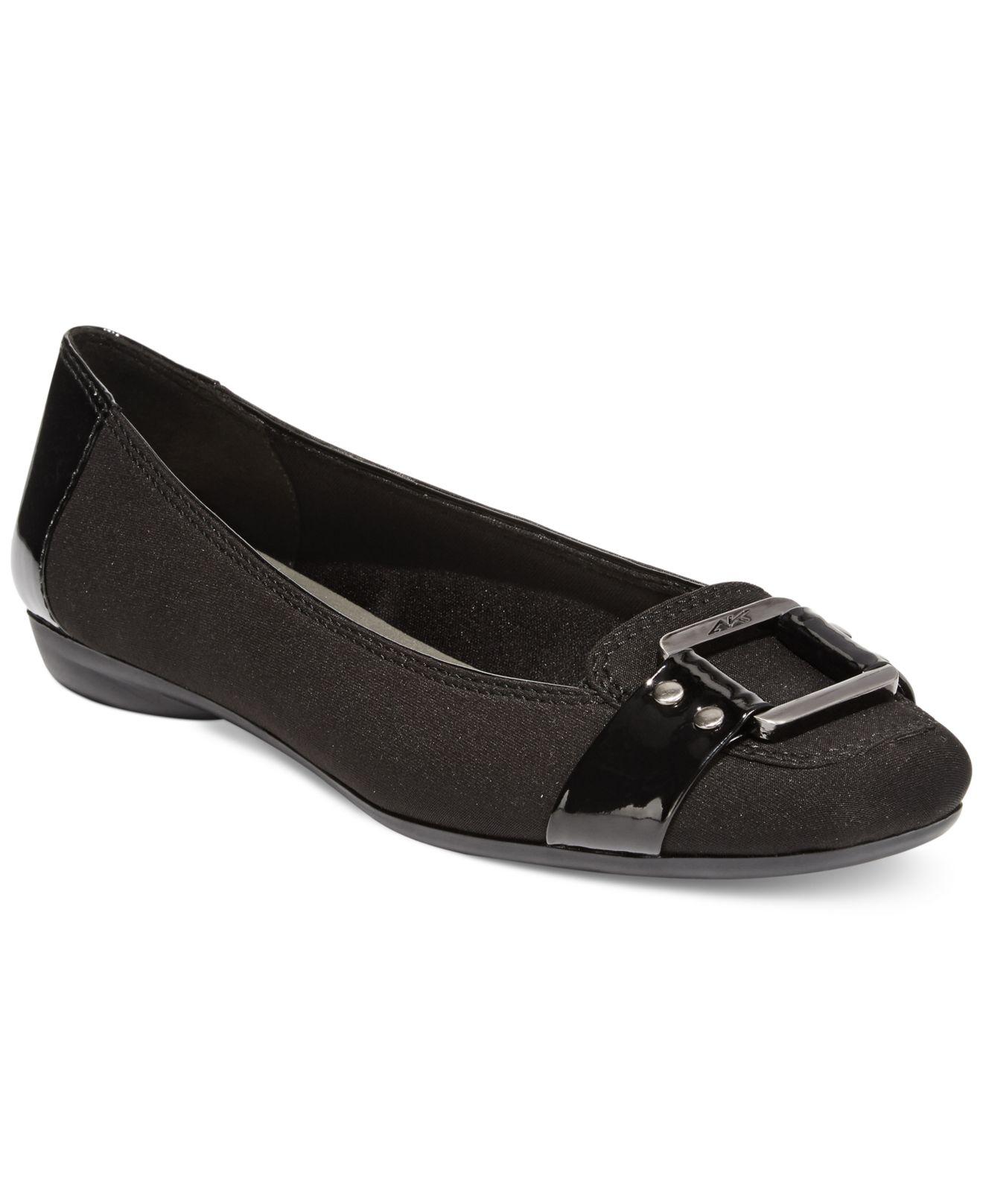 Anne Klein Able Ballet Flat Shoe Wide Width in Blue - Save