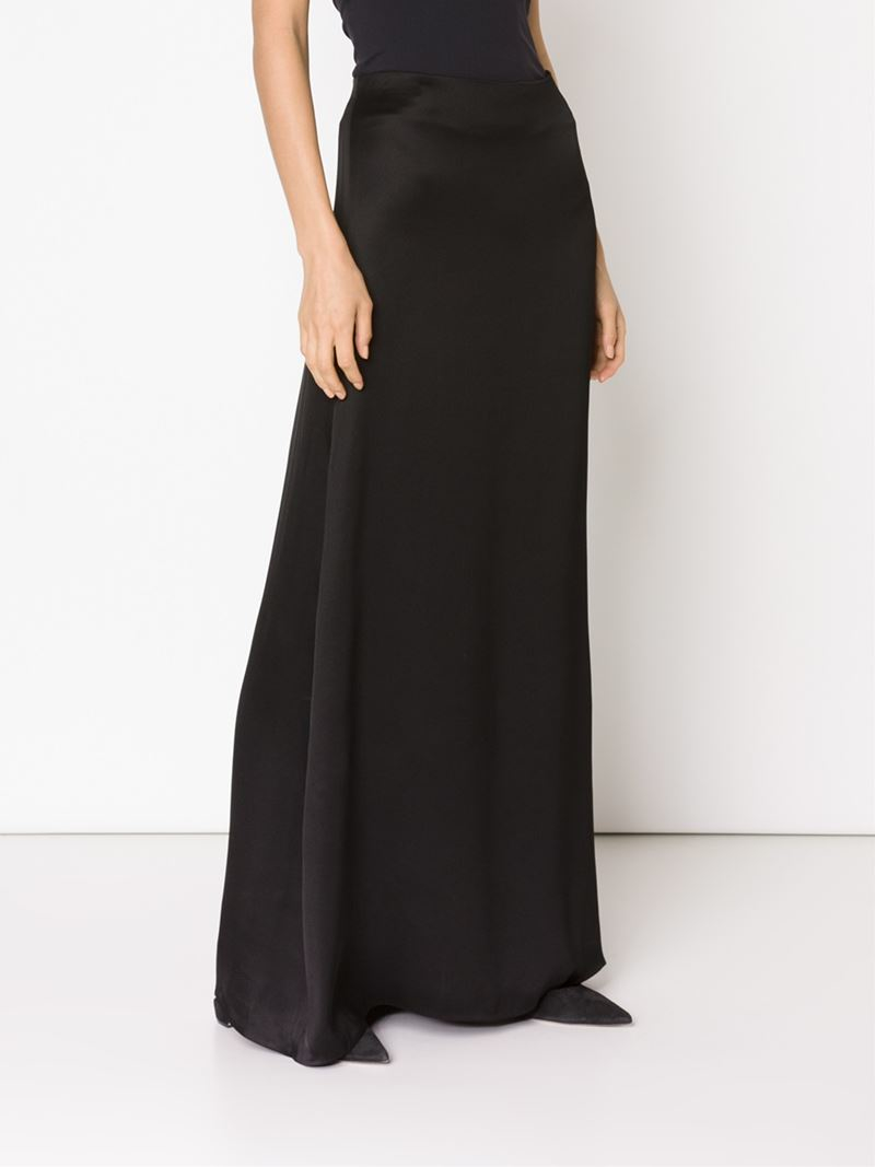 The row A-line Maxi Skirt in Black | Lyst