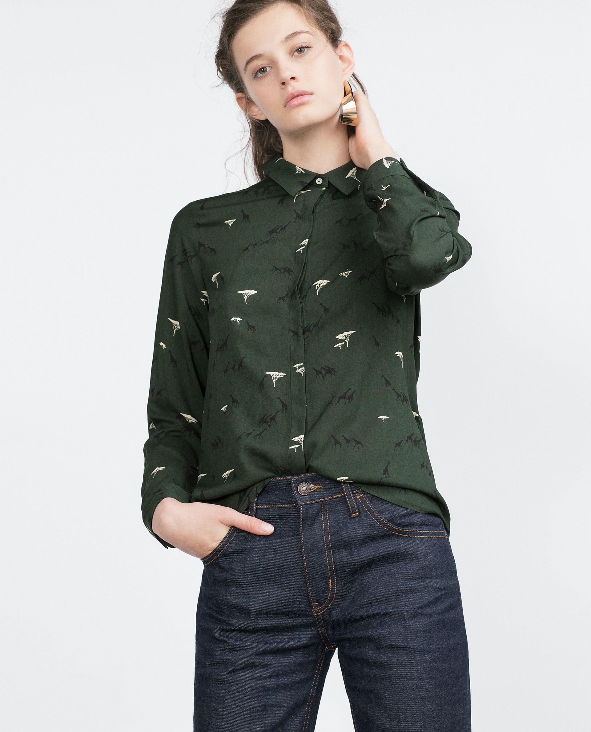 Zara Printed Chiffon Blouse 15