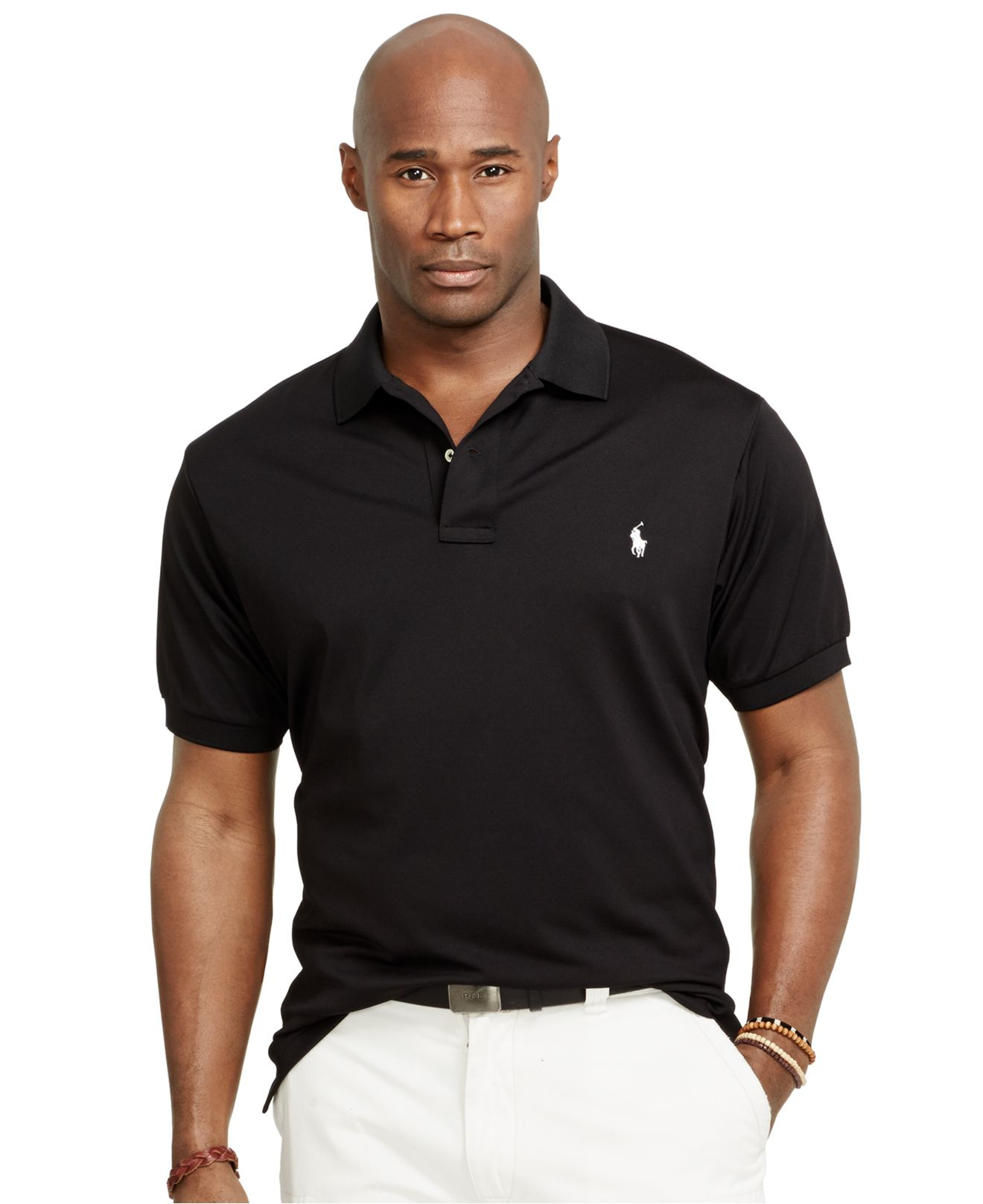 Polo ralph lauren big and tall performance mesh polo shirt Man in polo shirt