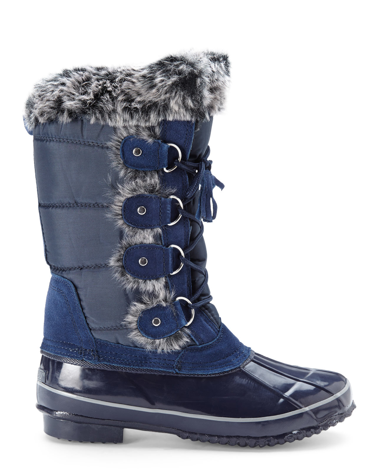 Khombu Navy Beverly Snow Boots in Blue | Lyst