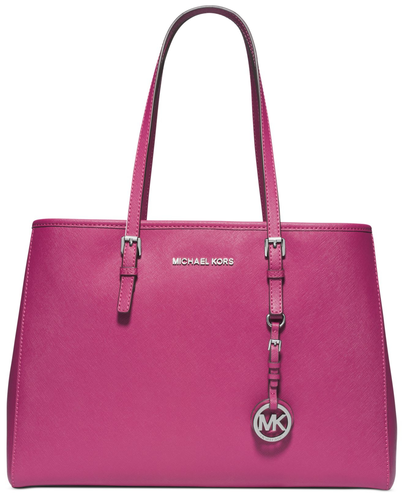 michael kors michael jet set travel east west tote in pink deep pink. Black Bedroom Furniture Sets. Home Design Ideas