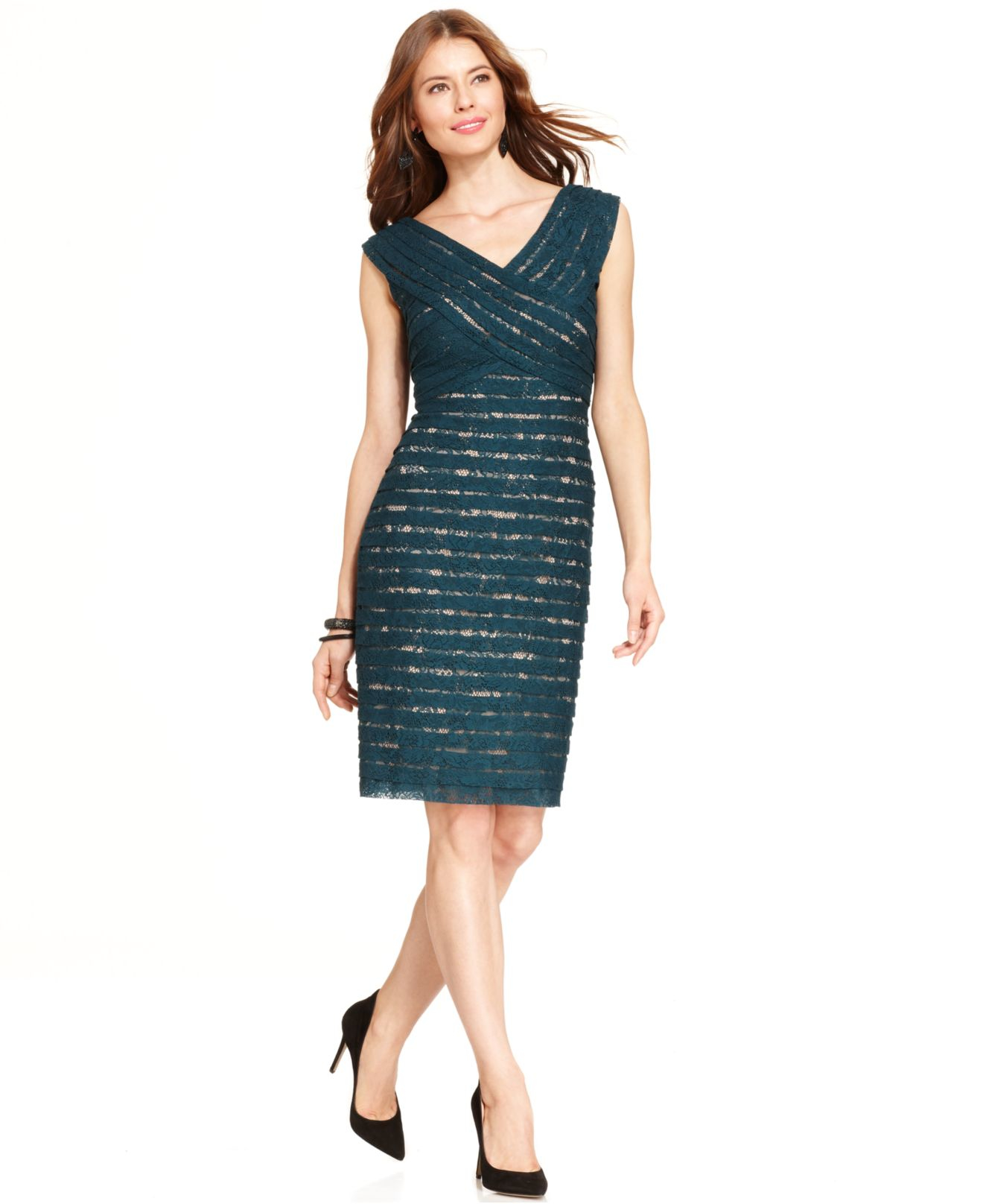 e57ef1472aa Gallery. Previously sold at: Macy's · Women's Adrianna Papell Lace Dress