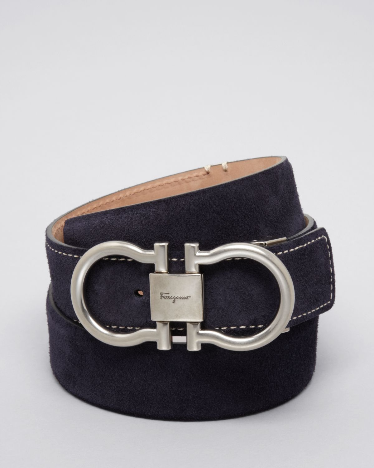 3cb2e4807f291 ... shop lyst ferragamo suede double gancini belt in blue for men 4dc3c  69b2a
