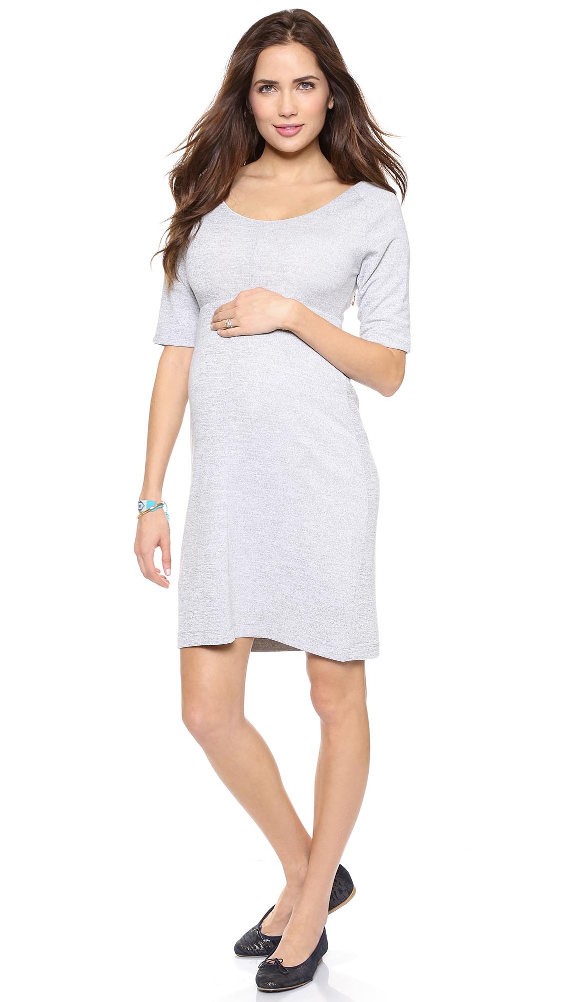 Rosie pope space dye maternity dress heather grey in gray lyst gallery ombrellifo Gallery