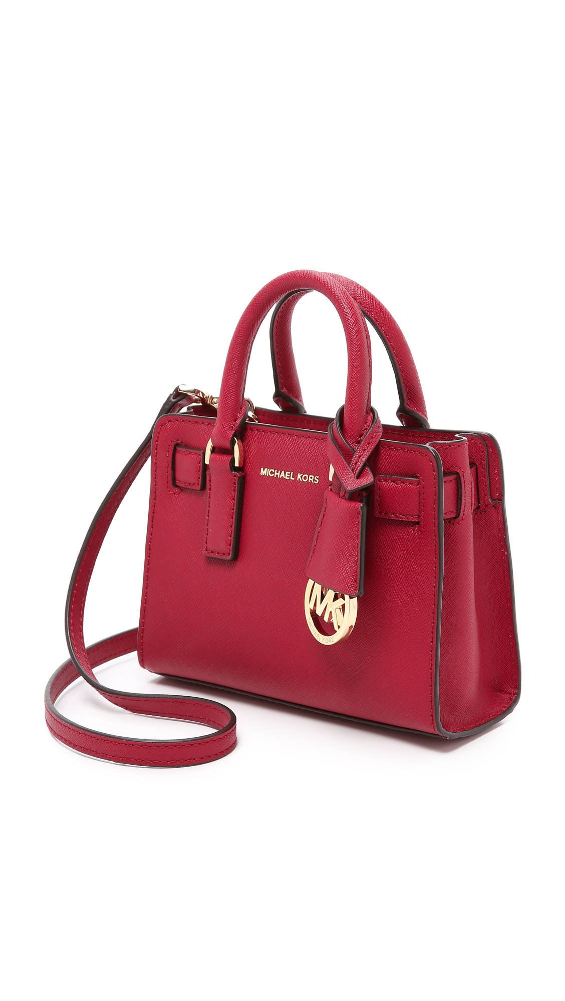 Michael michael kors Dillon Extra Small Cross Body Bag in Red | Lyst