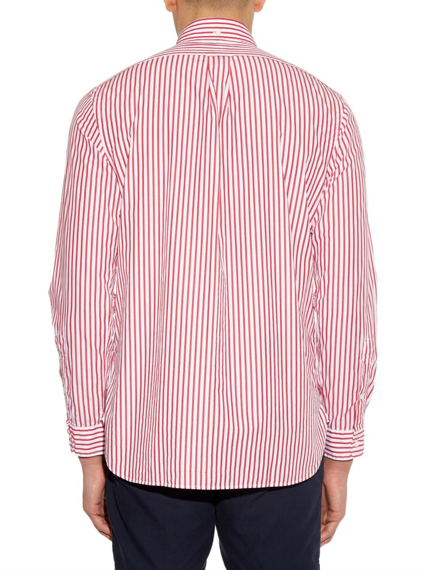 8227d6007 ... neck tee. m5acd5cfa00450f8e3c532a45 7b48b 23953  where can i buy lyst polo  ralph lauren custom fit striped cotton shirt in red for