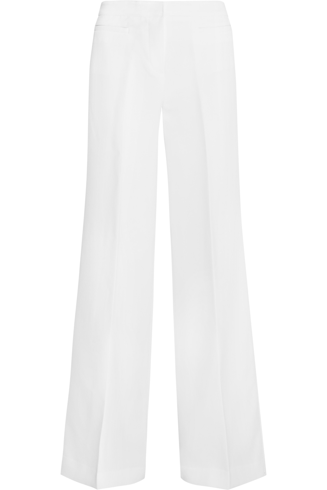 Michael michael kors Stretch-crepe Wide-leg Pants in White | Lyst