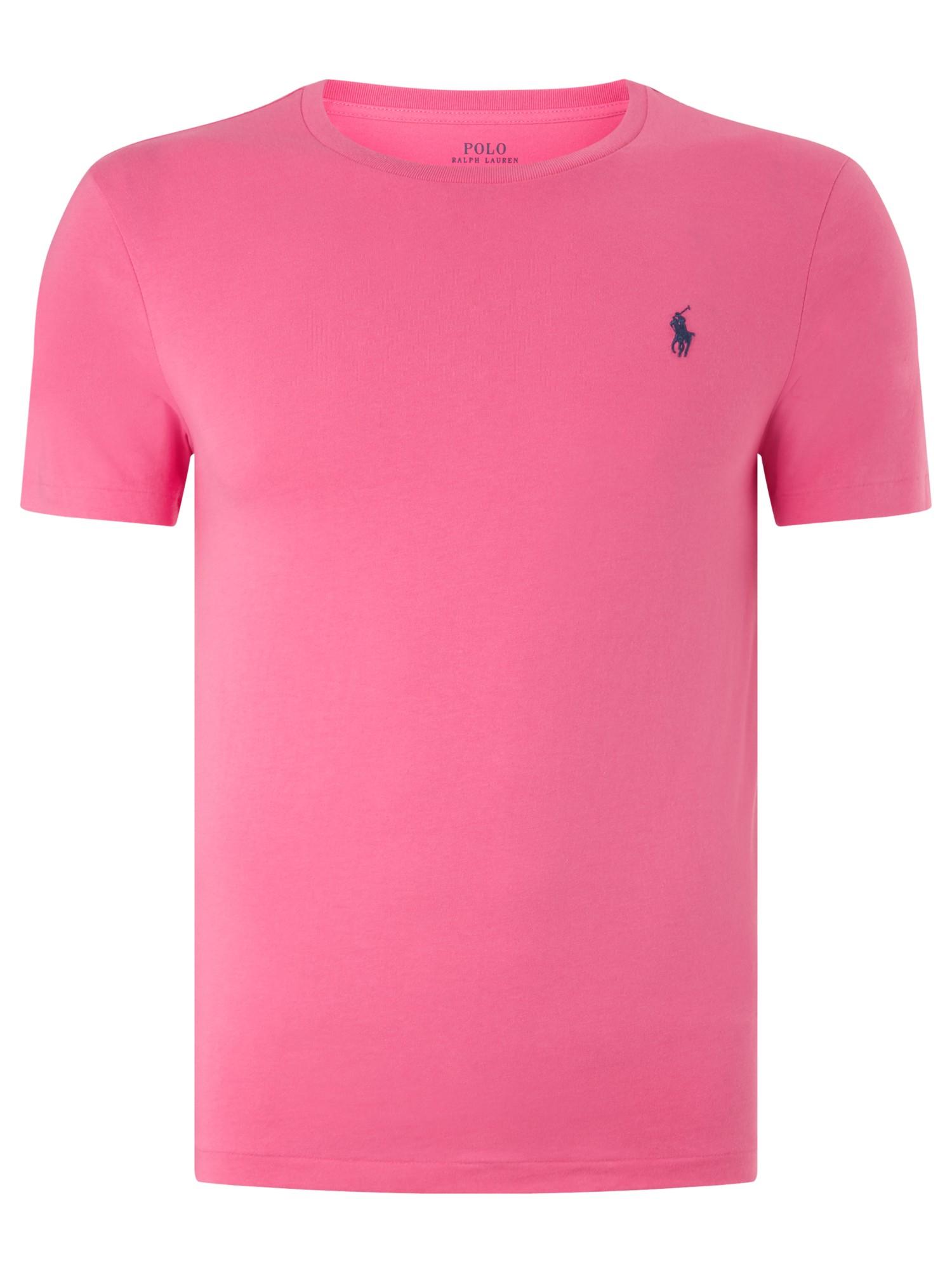 Ralph Lauren Polo Short Sleeve T Shirt In Pink For Men