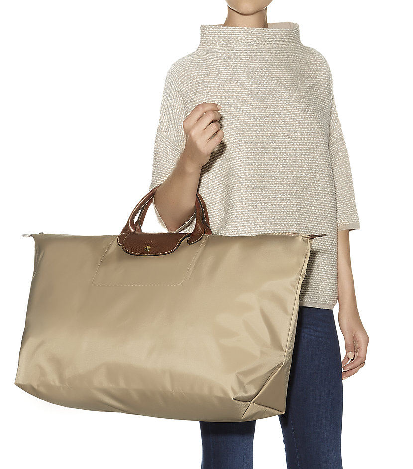 Longchamp Le Pliage Extra-Large Travel Bag in Natural | Lyst