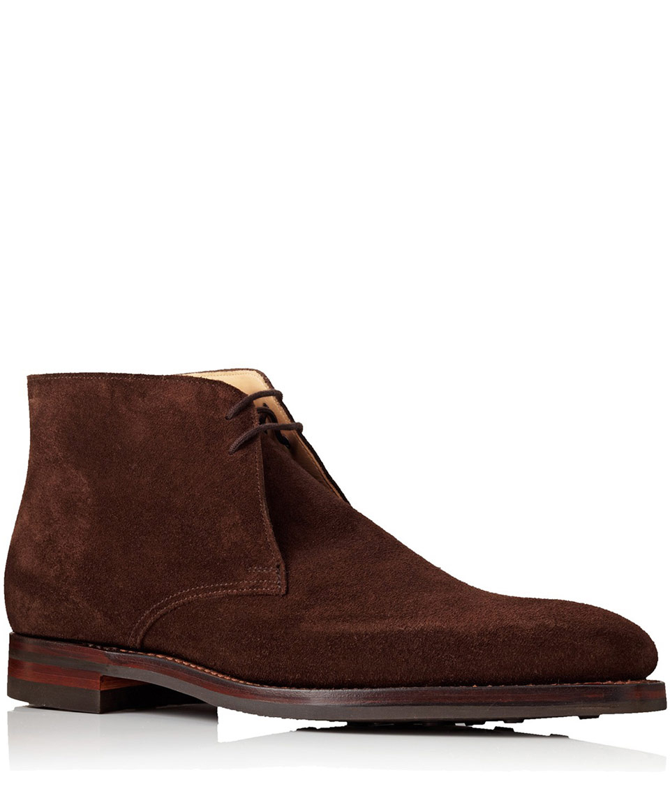 Lyst Crockett And Jones Brown Tetbury Chukka Suede Boots
