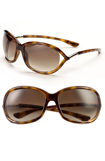 tom ford brown 39 jennifer 39 61mm oval frame sunglasses shiny dark. Cars Review. Best American Auto & Cars Review