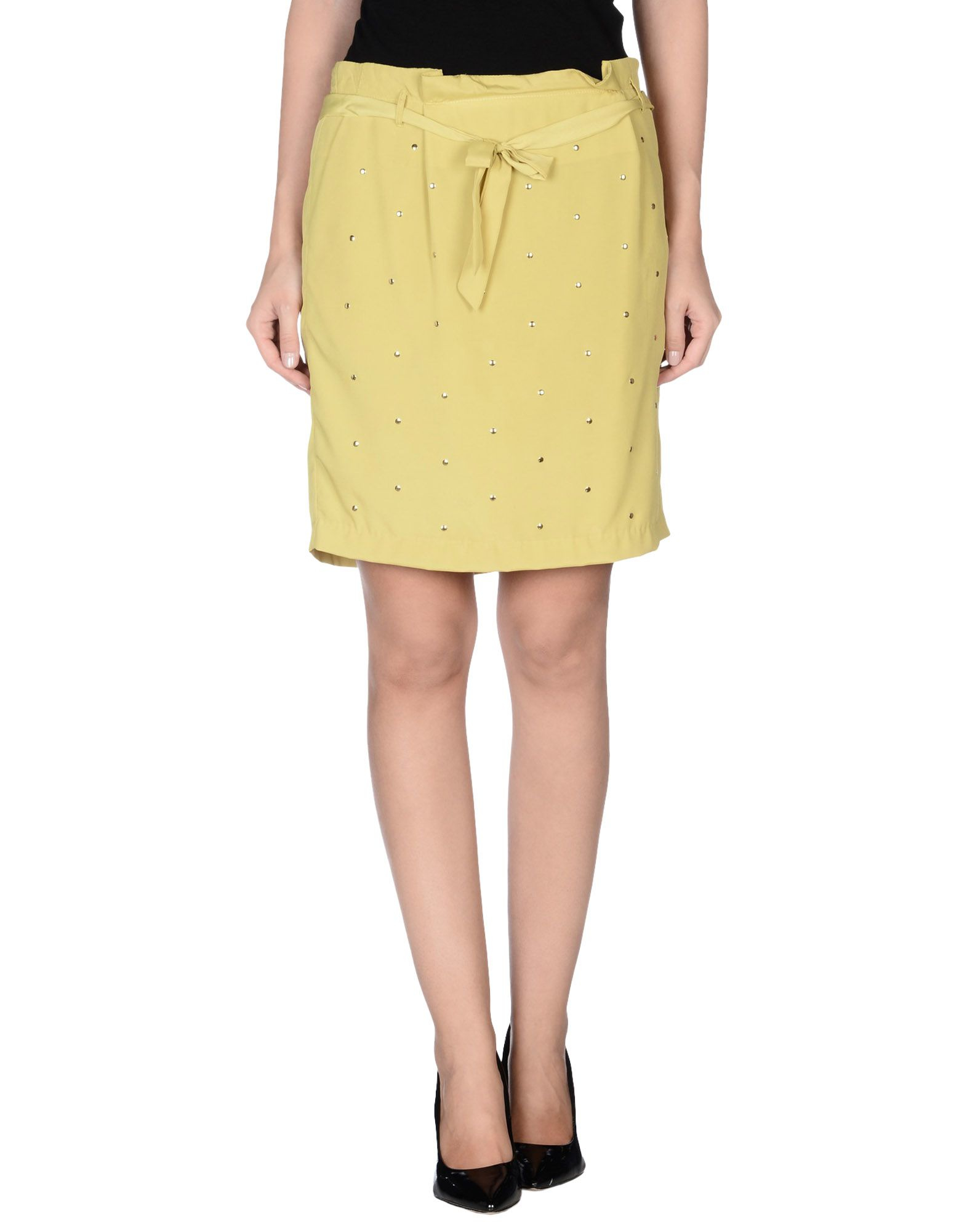 beayukmui knee length skirt in yellow save 73 lyst