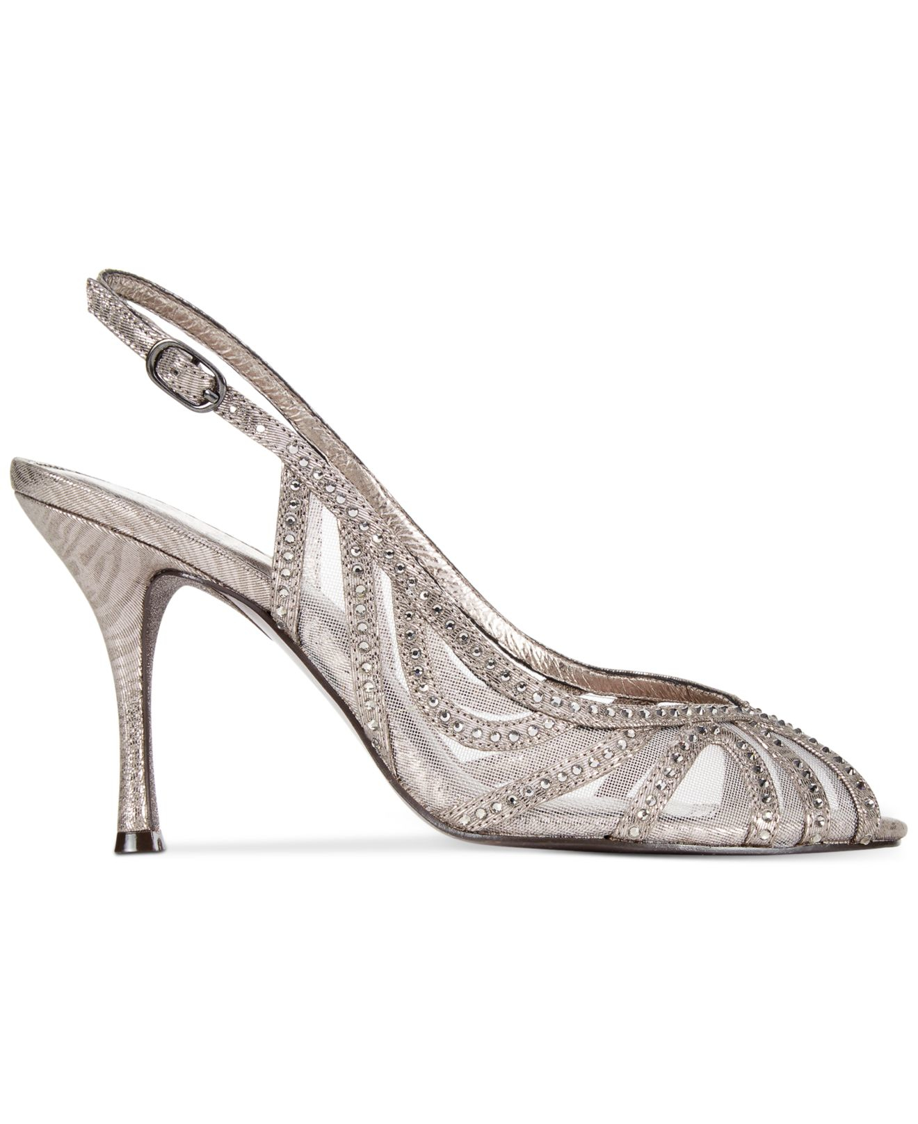 Lyst Adrianna Papell Fiji Evening Sandals In Metallic