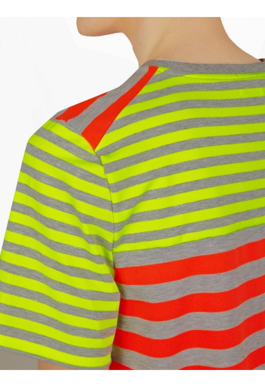 Jil sander men s neon stripe t shirt in red for men lyst for Jil sander mens shirt