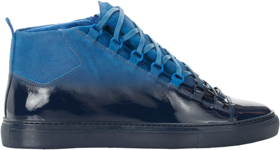 1026bcd691a2 Balenciaga Ombré Arena High-Top Sneakers in Blue for Men - Lyst