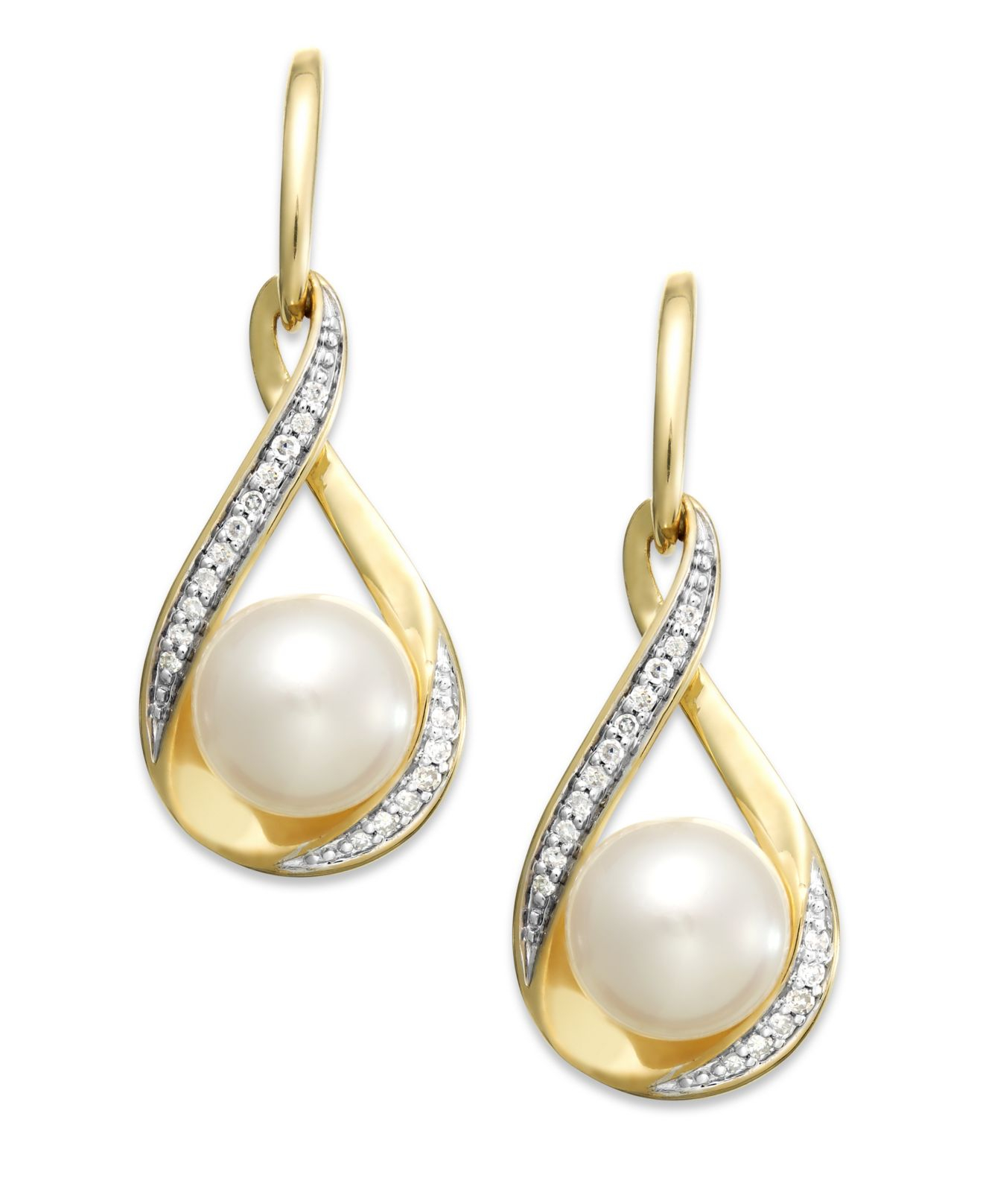 macy s pearl earrings macy s cultured freshwater pearl 7mm and 1 10 8100