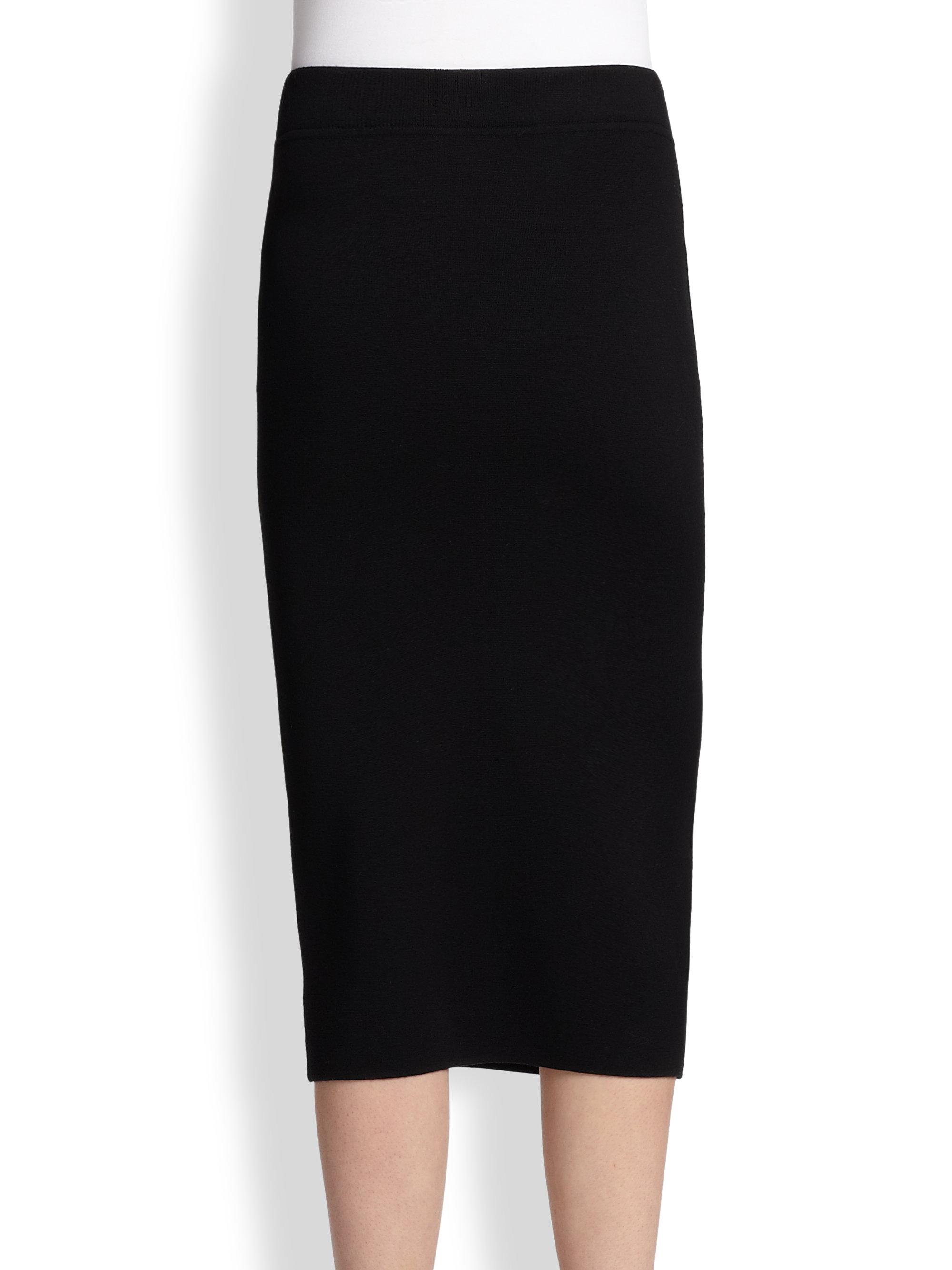 michael kors merino wool pencil skirt in black lyst
